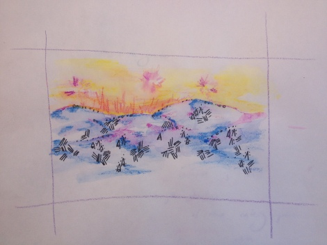 Sunrise on the Painted Hills
